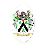 Christofis Oval Car Magnet
