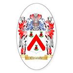 Christoffe Sticker (Oval 10 pk)