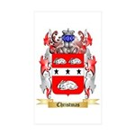Christmas Sticker (Rectangle 50 pk)