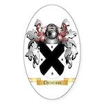 Christison Sticker (Oval 50 pk)