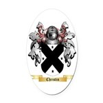 Christin Oval Car Magnet