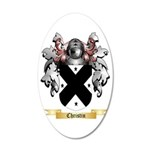 Christin 35x21 Oval Wall Decal