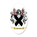 Christie Oval Car Magnet