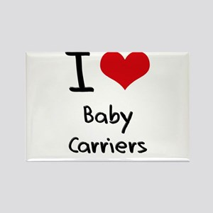 I Love Baby Carriers Rectangle Magnet
