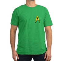Star Trek Captains Badge Chest Men's Fitted T-Shir