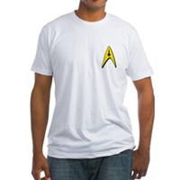 Star Trek Captains Badge Chest Fitted T-Shirt