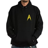 Star Trek Captains Badge Chest Hoodie (dark)