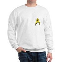Star Trek Captains Badge Chest Sweatshirt