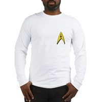 Star Trek Captains Badge Chest Long Sleeve T-Shirt