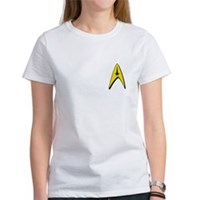 Star Trek Captains Badge Chest Women's T-Shirt