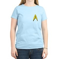 Star Trek Captains Badge Chest Women's Light T-Shi