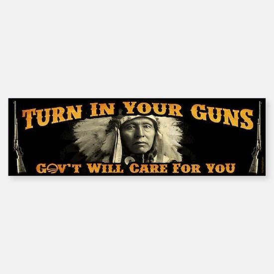 Turn In Your Guns Sticker (Bumper)