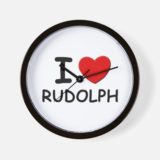I love Rudolph Wall Clock