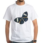 Blue Spotted Butterfly White T-Shirt