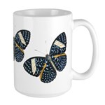 Blue Spotted Butterfly Large Mug