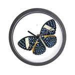Blue Spotted Butterfly Wall Clock
