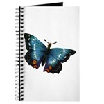 Blue with Red Butterfly Journal