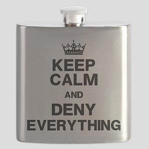 Keep Calm Deny Everything Flask