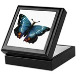 Blue with Red Butterfly Keepsake Box