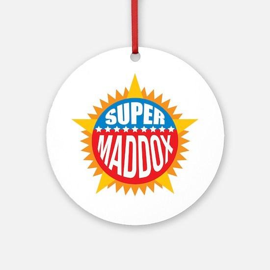 Super Maddox Ornament (Round)