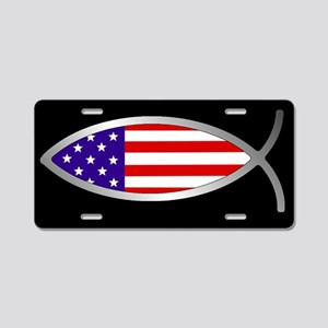 Flag FishAluminum License Plate