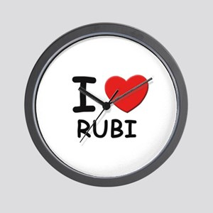 I love Rubi Wall Clock
