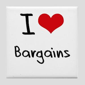 I Love Bargains Tile Coaster