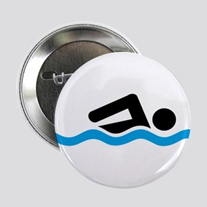 "swimming 2.25"" Button"