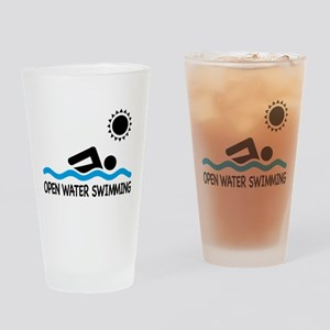open water swimming Drinking Glass