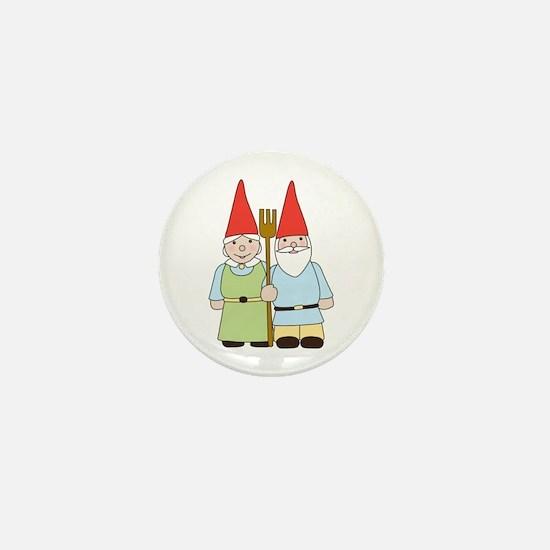 Gnome Couple Mini Button