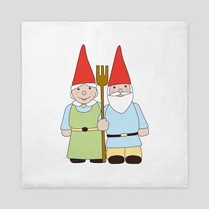 Gnome Couple Queen Duvet