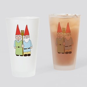 Gnome Couple Drinking Glass