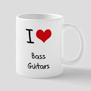 I Love Bass Guitars Mug