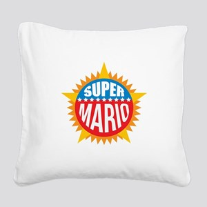 Super Mario Square Canvas Pillow