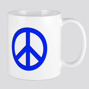 Blue White Peace Sign Mug