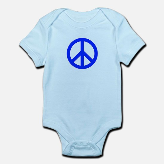 Blue White Peace Sign Body Suit