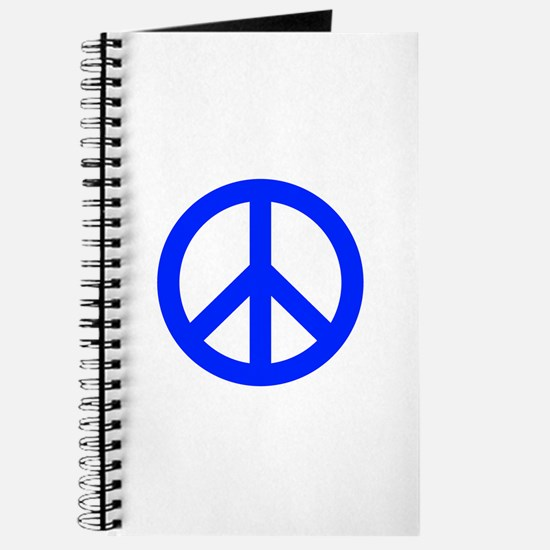 Blue White Peace Sign Journal