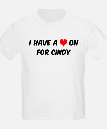 Heart on for Cindy Kids T-Shirt