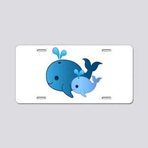 Baby Whale Aluminum License Plate