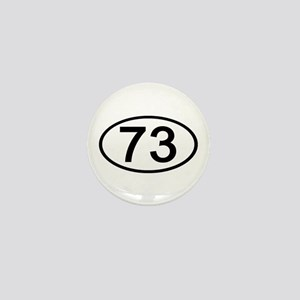 Number 73 Oval Mini Button