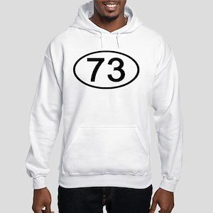 Number 73 Oval Hooded Sweatshirt