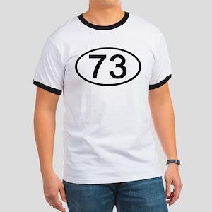 Number 73 Oval Ringer T