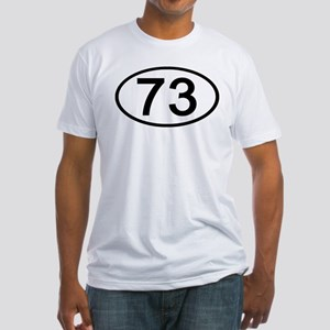 Number 73 Oval Fitted T-Shirt