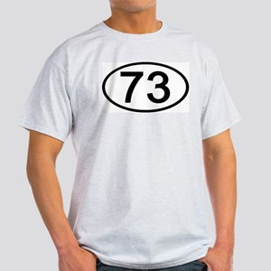 Number 73 Oval Ash Grey T-Shirt