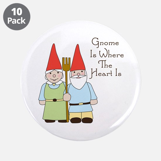 "Where The Heart Is 3.5"" Button (10 pack)"