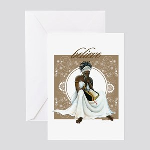 African american expressions greeting cards cafepress believe greeting card m4hsunfo