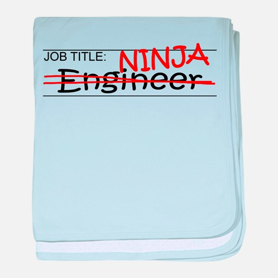 Job Ninja Engineer baby blanket