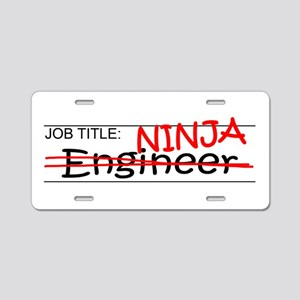 Job Ninja Engineer Aluminum License Plate