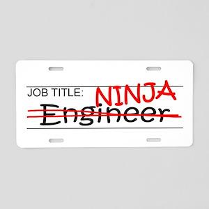 Job Ninja Engineer Aluminum License Plate