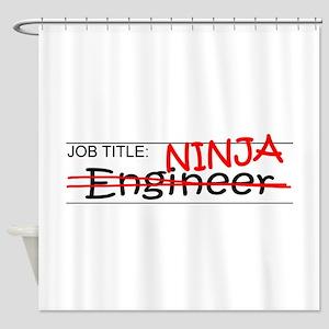 Job Ninja Engineer Shower Curtain